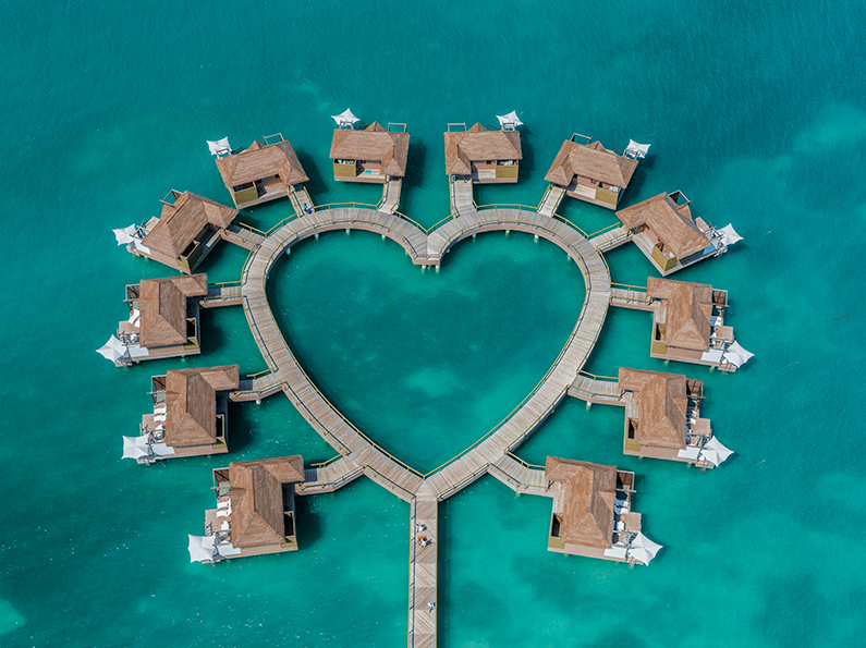 Over the Water Bungalows at Sandals Jamaica